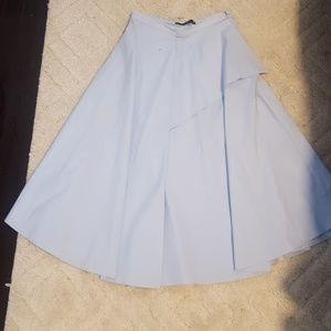 Zara baby blue skirt